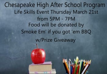 Chesapeake High After School Program Event