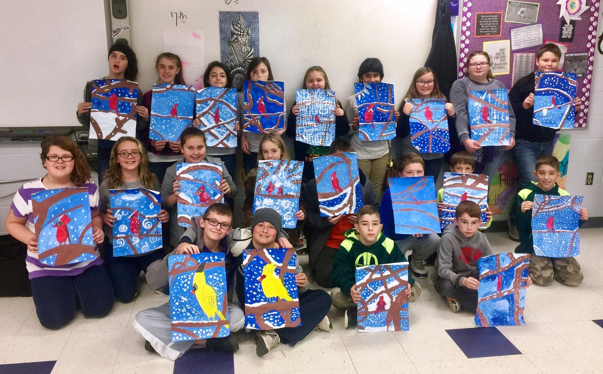 5th grade Art class