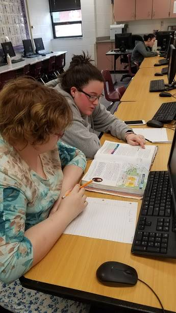 Destiny Clark and Abbey Moses - Peer Tutoring
