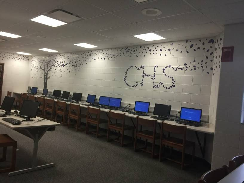 CHS Library Wall
