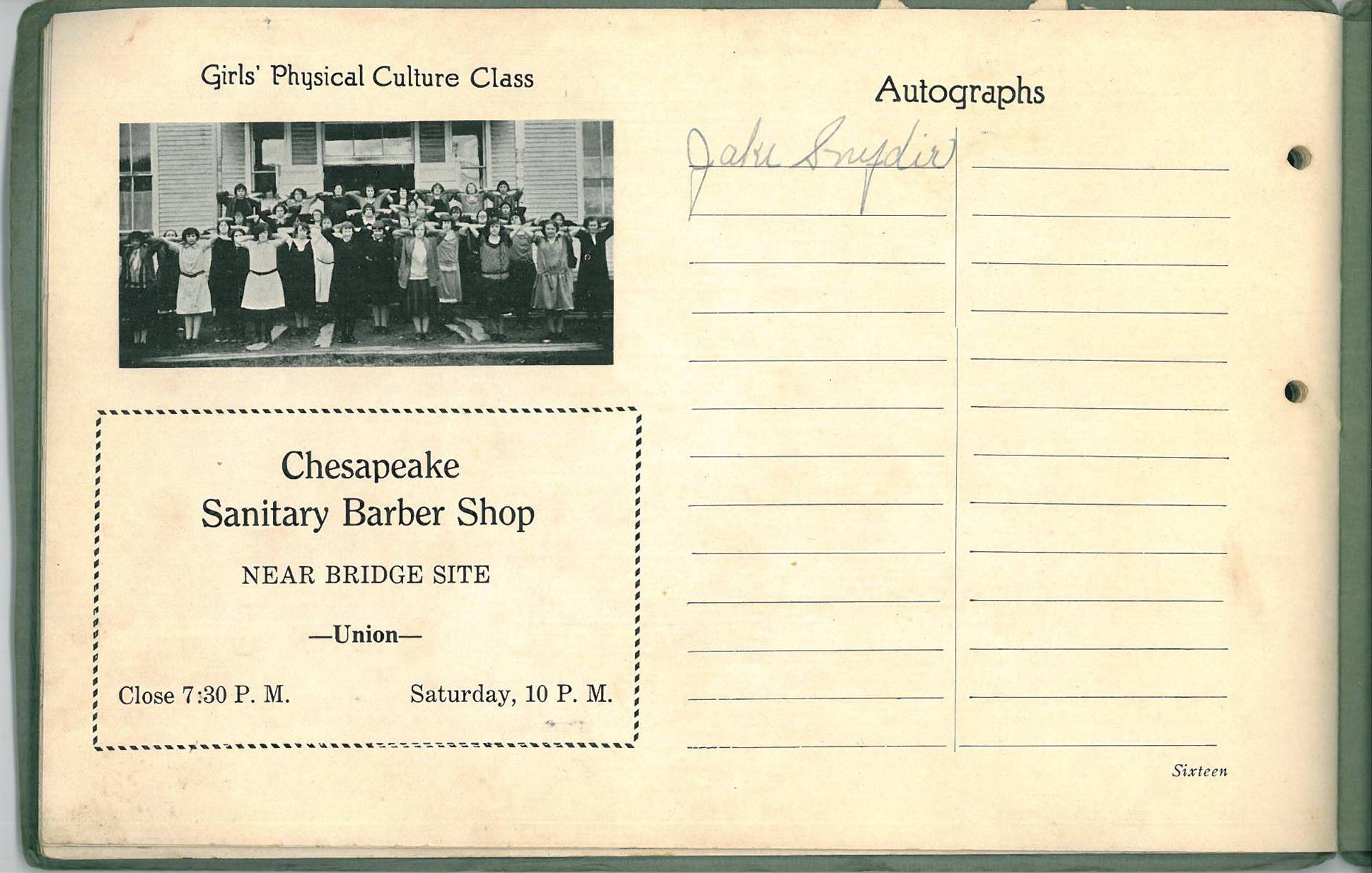 1925 Chesapeake High School Review Yearbook